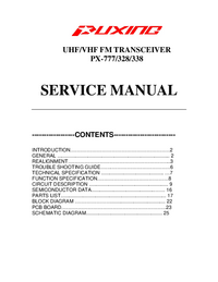 Service Manual Puxing PX-777