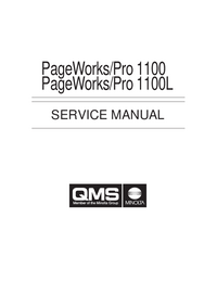 Service Manual QMS PageWorks/Pro 1100L