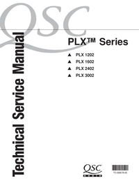 Service Manual QSC PLX 1602