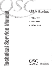 Service Manual QSC USA 900