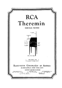 Serwis i User Manual RCA Theremin