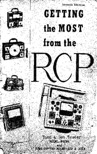 Service and User Manual RCP 322A