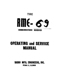Service and User Manual RME RME-69