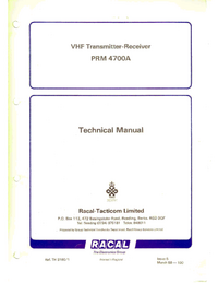 Racal-7285-Manual-Page-1-Picture