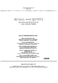 Service Manual Racal 2051