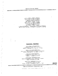 Service and User Manual Racal 1995