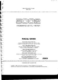 Руководство по техническому обслуживанию Racal 5002