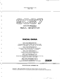 Service and User Manual Racal 9087