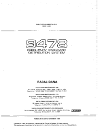 Service and User Manual Racal_Dana 9478
