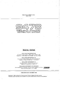 Обслуживание и Руководство пользователя Racal_Dana 9478