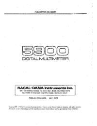 Gebruikershandleiding Racal_Dana 5900