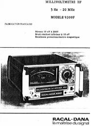 Service- und Bedienungsanleitung Racal_Dana 9300F