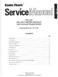 Manual de servicio RadioShack HTX-242