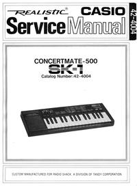 Manuale di servizio RadioShack Concertmate-500