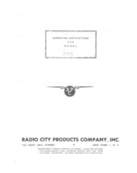Service-en gebruikershandleiding Radiocit 777A