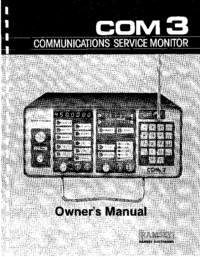 User Manual with schematics Ramsey COM 3
