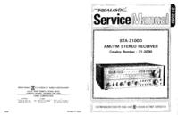 Manual de serviço Realistic STA-2100D
