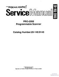 Manual de servicio Realistic Pro-2006