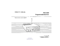 User Manual Realistic Pro-2600
