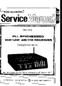 Service Manual Realistic Pro-2020