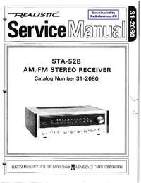 Service Manual Realistic STA-52B