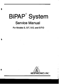 Service Manual Respironics BiPAP S-D