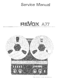 Serviceanleitung Revox A77