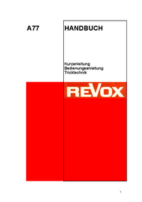 Revox-7302-Manual-Page-1-Picture