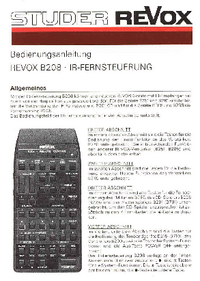 Manual del usuario Revox B208