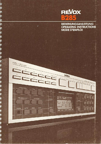 User Manual Revox B285