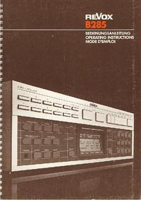 Revox-7306-Manual-Page-1-Picture