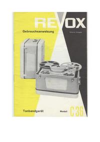 Bedienungsanleitung mit Schaltplan Revox C36