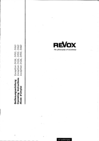 User Manual Revox Exception E450