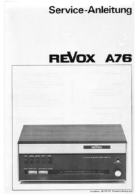 manuel de réparation Revox A76