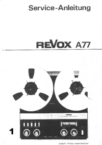 Manual de servicio Revox A77