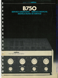Руководство по техническому обслуживанию Revox B750
