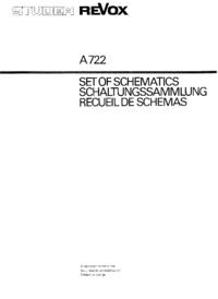 Schaltplan Revox A722