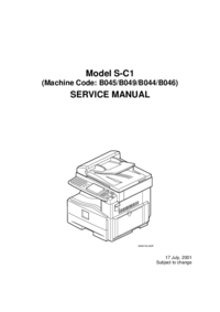 Manual de servicio Ricoh Model S-C1 (Machine Code: B045/B
