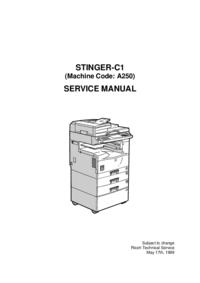 Servicehandboek Ricoh STINGER-C1 (Machine Code: A250)