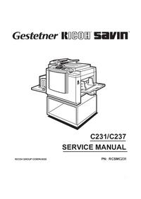 Руководство по техническому обслуживанию Ricoh C237