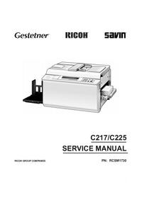 Manual de servicio Ricoh C217