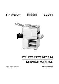 Руководство по техническому обслуживанию Ricoh C216