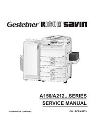Servicehandboek Ricoh A156 Series