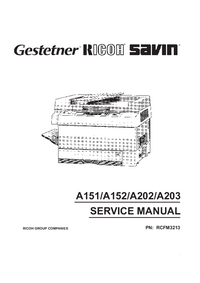Servicehandboek Ricoh FT3713