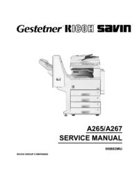 Service Manual Ricoh Aficio 220