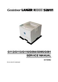 manuel de réparation Ricoh Aficio AP600N
