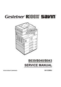 Service Manual Ricoh Aficio 1018