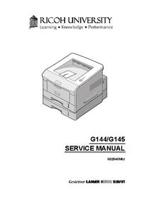 Servicehandboek Ricoh BP20N