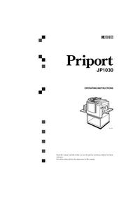 Руководство пользователя Ricoh Priport JP1030