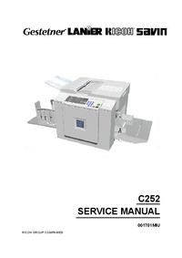 Service Manual Ricoh JP730